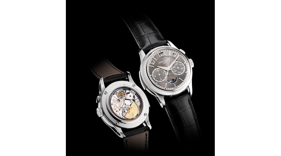 PATEK PHILIPPE, ref. 5208P-001. An extremely fine, rare and highly attractive platinum minute repeating single-button chronograph wristwatch with instantaneous perpetual calendar, moon phases, leap year indication, Certificate of Origin and presentation box. Circa 2016