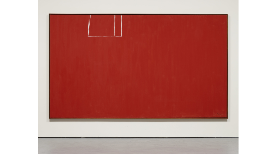 ROBERT MOTHERWELL Open No. 153: In Scarlet with White Line, 1970