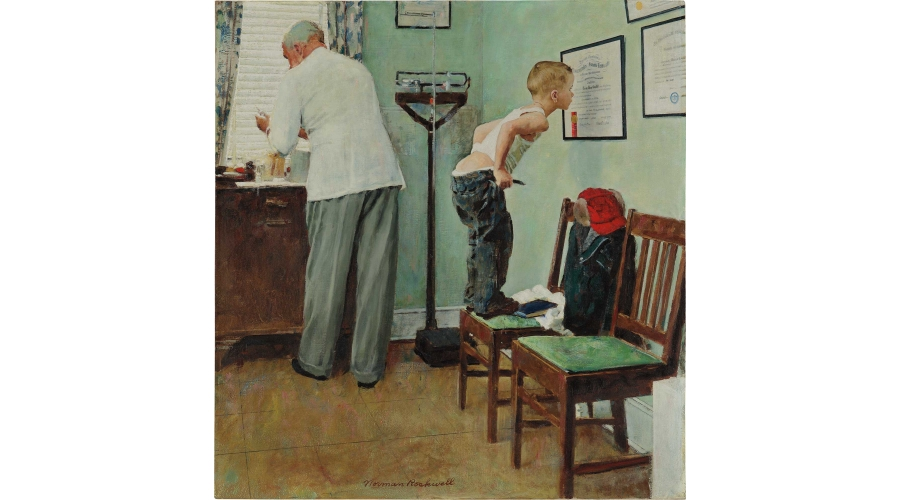 NORMAN ROCKWELL Before the Shot, 1958