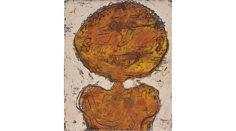JEAN DUBUFFET Mademoiselle mine orange, 1950