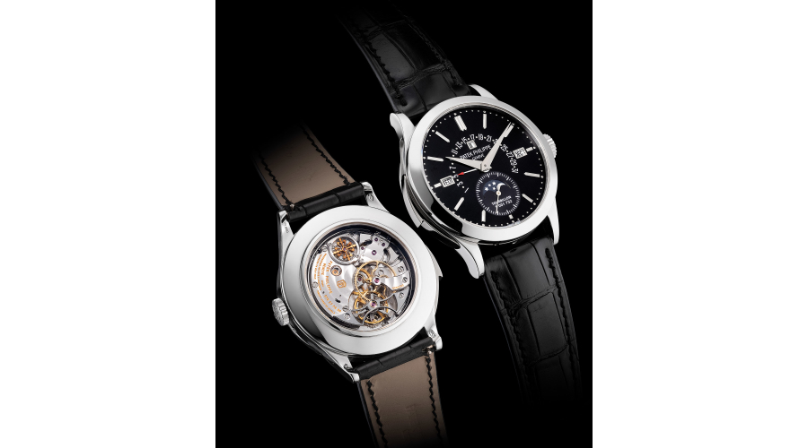PATEK PHILIPPE, ref. 5016P-001. A highly complicated, rare and distinguished platinum perpetual calendar minute repeating wristwatch with tourbillon regulator, retrograde date, moonphases, black lacquered dial, Certificate and box. Circa 2014