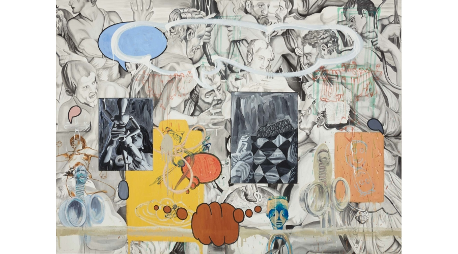 DAVID SALLE Nadar's Grey, 1990
