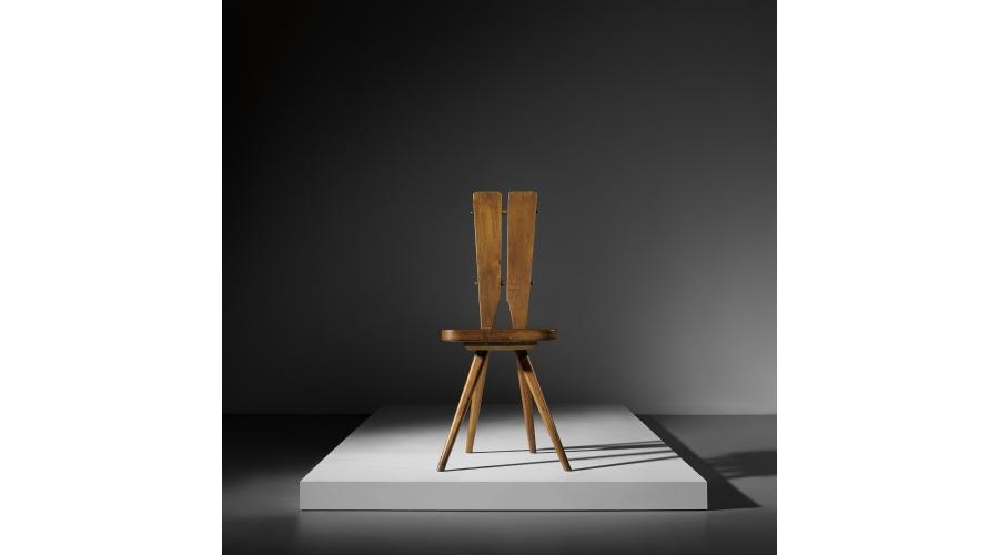CARLO MOLLINO Set of three side chairs, designed for the Casa del Sole, Cervinia, circa 1953