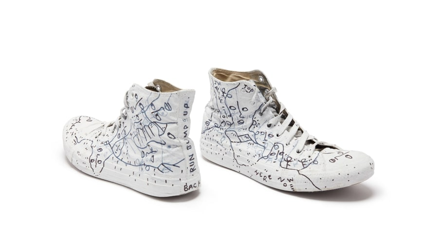 Shantell Martin's worn and drawn upon Converse All Stars