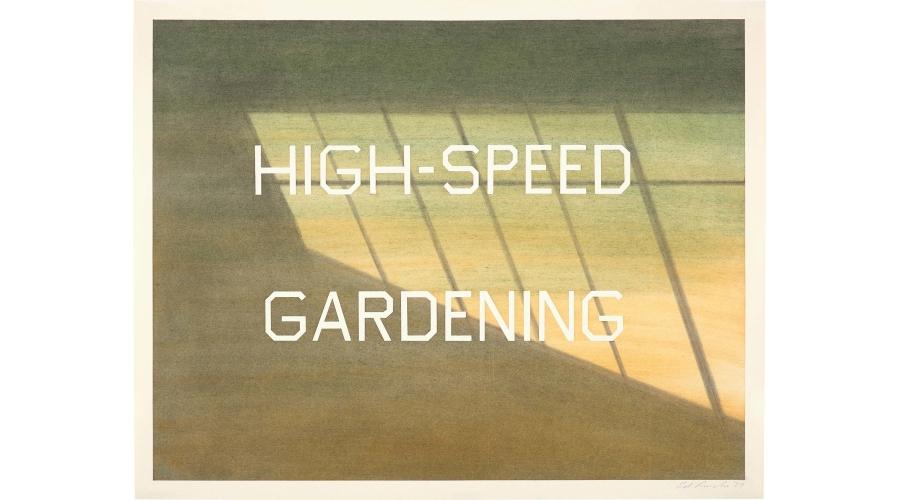 ED RUSCHA High-Speed Gardening, 1989