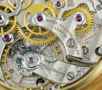 A very rare, attractive and well preserved yellow gold perpetual calendar chronograph wristwatch with moonphases