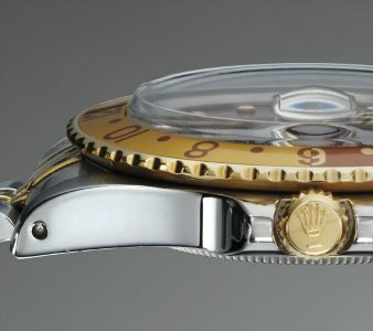 A very rare and attractive stainless steel and yellow gold dual time wristwatch with sweep centre seconds, date and yellow gold and stainless steel bracelet made for the UAE Ministry of Defense