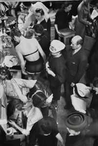 HENRI CARTIER-BRESSON Changing during the Christian Dior fashion show, Paris, circa 1947