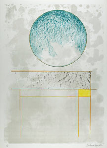 Barbara Hepworth Sun and Marble from The Aegean Suite, 1971. Lithograph on paper. The Hepworth Wakefield (Wakefield Permanent Art Collection), © Bowness