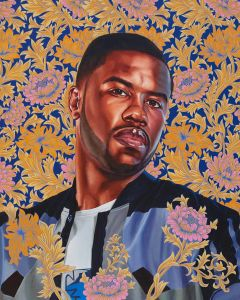 KEHINDE WILEY Portrait of Quentin Lee Moore, 2017