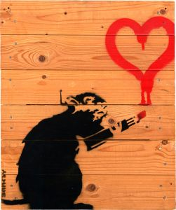 BANKSY Love Rat on Pallette, 2004