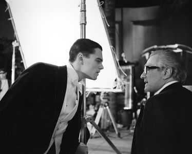 BRIGITTE LACOMBE Leonardo DiCaprio and Martin Scorsese, 'The Aviator', Montreal, Quebec, 2003