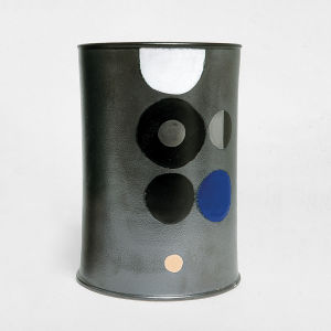 ETTORE SOTTSASS 'Ceramic of Darkness', unique hand painted piece, Galleria Il Sestante, Milan, 1963