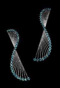GABO EARRINGS zircons, diamonds and gold © Lauren Adriana, photographed by Richard Valencia