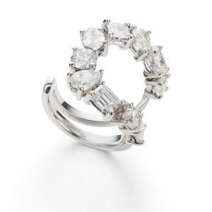 A Diamond 'Mirian' Ring