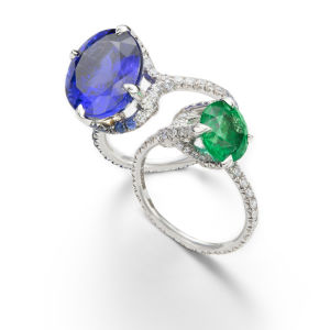 A Tanzanite 'Gioconda' Ring and an Emerald 'Marcia' Ring