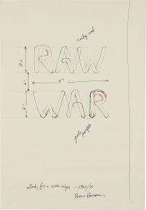 BRUCE NAUMAN RAW/WAR, 1968-1970
