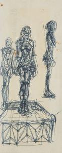 ALBERTO GIACOMETTI Trois femmes nues debout, circa 1960