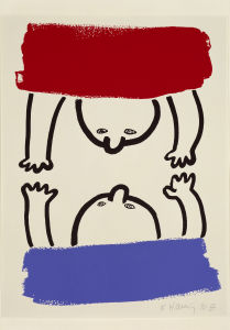 KEITH HARING The Story of Red and Blue (Set of 21 Prints / Sheet 15), 1989/990