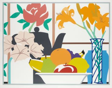 TOM WESSELMANN Still Life with Petunias, Lilies and Fruit, 1989