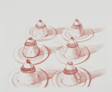 WAYNE THIEBAUD Six Italian Desserts, from Recent Etchings II, 1979