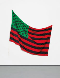 DAVID HAMMONS African-American Flag, 1990