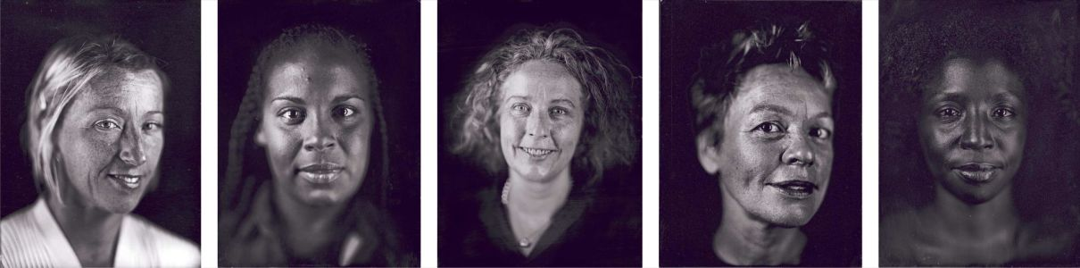 CHUCK CLOSE Cindy, Ellen, Kiki, Laurie, Lorna, 2000