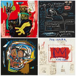 AFTER JEAN-MICHEL BASQUIAT Head, Rinso, Per capita, and Ernok, 2001
