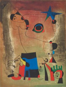 AFTER JOAN MIRÓ Le chien bleu, 1958