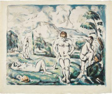 Paul CézanneLes baigneurs (grande planche) (The Large Bathers)