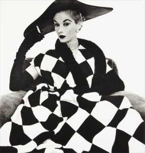 IRVING PENN Harlequin Dress (Lisa Fonssagrives-Penn), 1950