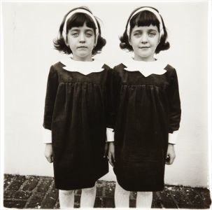 DIANE ARBUS Identical Twins Cathleen (I) and Colleen, Roselle, N.J., 1967