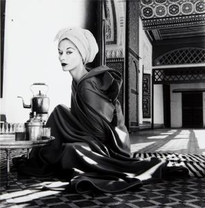 IRVING PENN Woman in Palace, Marrakech, Morocco (Lisa Fonssagrives-Penn), 1951