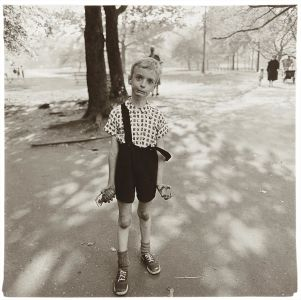 DIANE ARBUS Child with a toy hand grenade in Central Park, N.Y.C., 1962