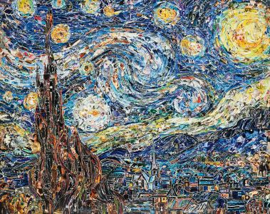 VIK MUNIZ Starry Night, after Van Gogh from Pictures of Magazines 2, 2012
