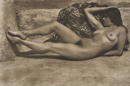 EDWARD WESTON Untitled (Tina on the Azotea, with Kimono), 1924