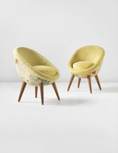 JEAN ROYÈRE Pair of 'Œufs' chairs, circa 1953