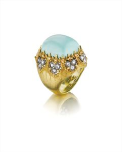 BuccellatiA Turquoise, Diamond and Gold Ring