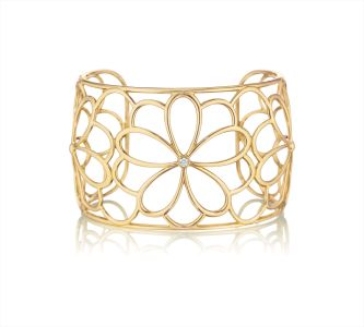 Tiffany & Co.A Gold and Diamond Cuff Bracelet