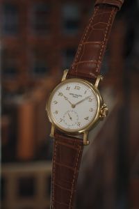 Patek PhilippeAn extremely rare and important, rose gold limited edition minute repeating wristwatch with original certificate, commemorative medallion, literature and box, celebrating the inauguration of the Patek Philippe workshops in Plan-Les-Quates.
