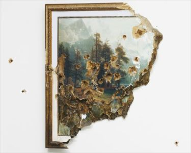 VALERIE HEGARTY Bierstadt with Holes, 2007