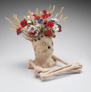 Maurizio CattelanUntitled (skeleton vase)