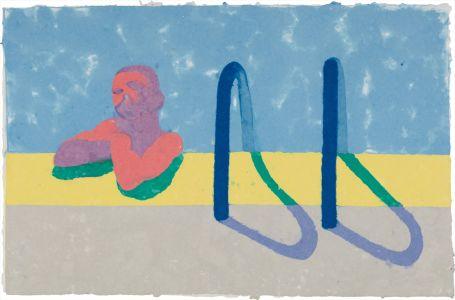 David HockneyGregory in the Pool E (Paper Pool 4)