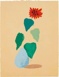 David HockneySunflower H (Paper Pool I)