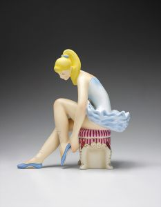 Jeff KoonsSeated Ballerina (Wood)