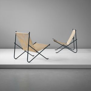 POUL KJÆRHOLM Pair of lounge chairs, designed 1952, produced circa 1953