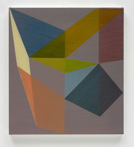 JAMES RYAN Untitled, 2017. Acrylic on checked fabric.