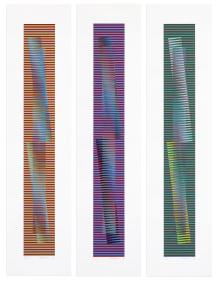 Carlos Cruz-Diez - Induction Chromatique à Double Fréquence Série Arco