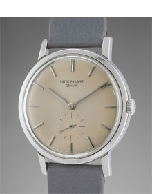 Patek Philippe - A rare, attractive and well-preserved stainless steel wristwatch