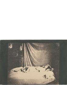 Charles Nègre - Model reclining in the artist's studio